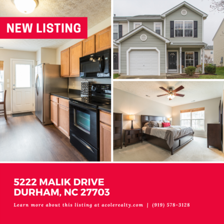 *NEW LISTING* Spectacular End Unit Townhome in a convenient Durham location close to RTP, RDU, Brier Creek, restaurants, and shopping.