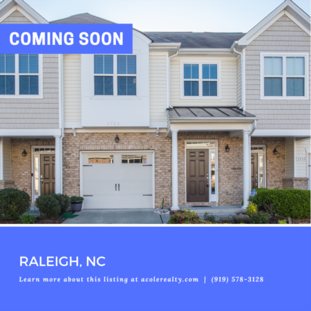 *COMING SOON* Spectacular End Unit Townhome in a convenient location close to I-540, schools, restaurants, and shopping!