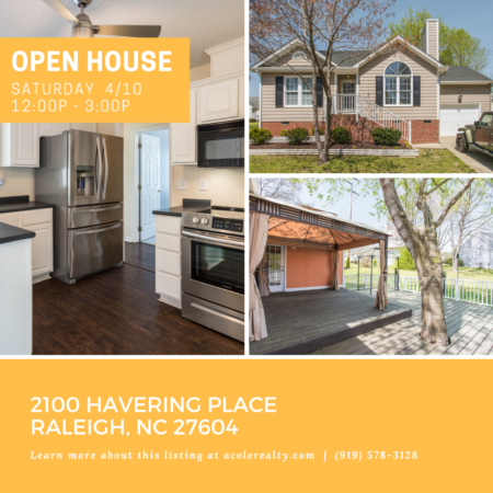 Open House: Saturday, April 10, 2021 from 12:00 PM - 3:00 PM