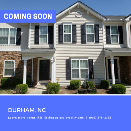 *COMING SOON* Move in ready townhome in a spectacular Durham location!