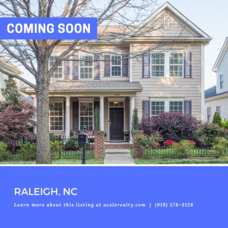 *COMING SOON* Amazing Opportunity 3 miles to downtown Raleigh!
