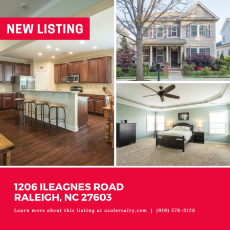 *NEW LISTING* Amazing Opportunity 3 miles to downtown Raleigh! Open floor plan with 1st Floor Bedroom.