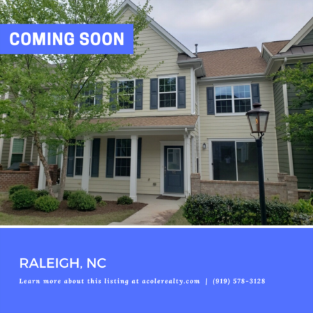 *COMING SOON* Located in the heart of Brier Creek, this 3 bedroom townhome is minutes away from shopping, restaurants, RDU, and RTP.