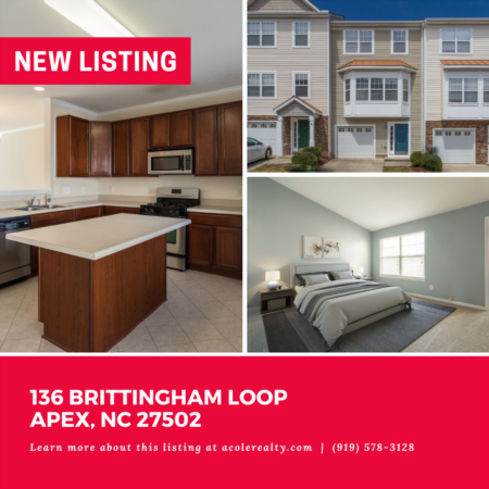 *NEW LISTING* Three story townhome with 1 car garage in the highly sought-after community of Haddon Hall conveniently located minutes from Downtown Apex & Beaver Creek.