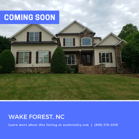 *COMING SOON* Step through the double door entrance of this Wakefiled Estate home on 1.84 acres!