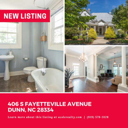 *NEW LISTING* Amazing opportunity in Historic Dunn!