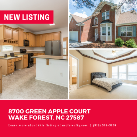 *NEW LISTING* Amazing opportunity in a great Wake Forest location convenient to schools, shopping, and restaurants.