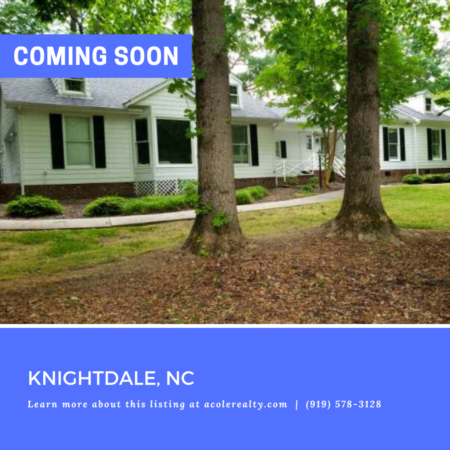 *COMING SOON* Ranch home in a prime Knightdale location!