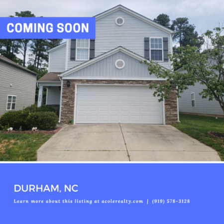 *COMING SOON* Amazing opportunity in a highly desirable RTP area near I-40, 540, Hwy 70, RDU, and Brier Creek!