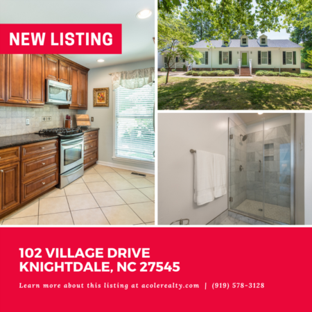 *NEW LISTING* Ranch home in a prime Knightdale location!