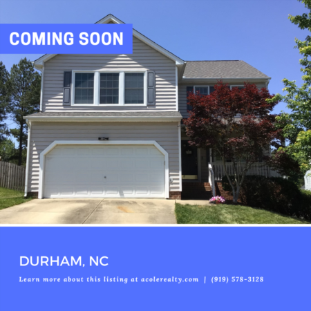 *COMING SOON* Amazing cul-de-sac opportunity in the highly sought-after Durham neighborhood of Hope Valley Farms.