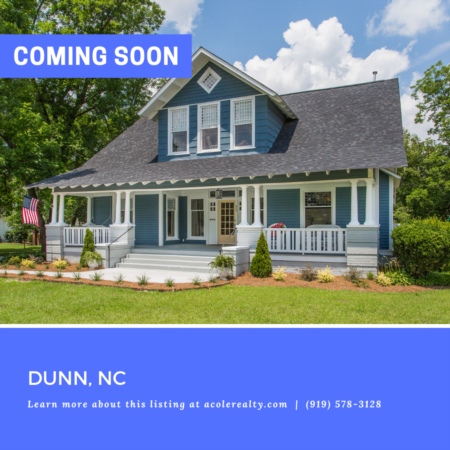 *COMING SOON* Rare historic find in Dunn. Renovated in 2018!