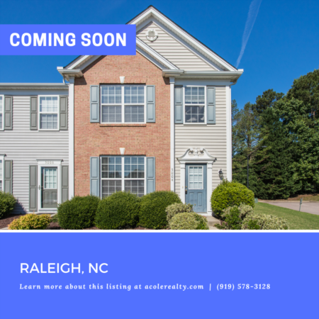*COMING SOON* Move in ready End Unit Townhome with fenced yard!