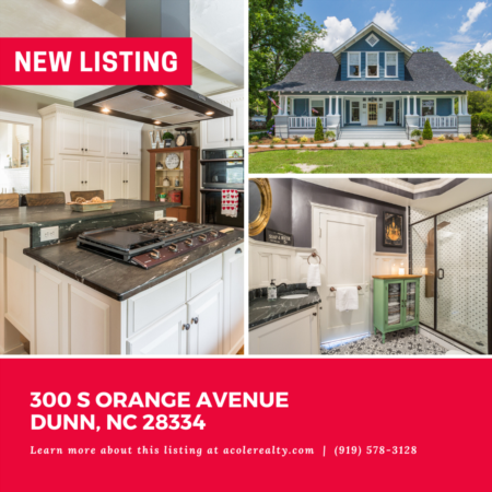 *NEW LISTING* Rare historic find in Dunn. Renovated in 2018!