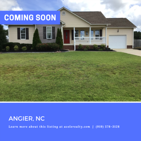 *COMING SOON* Highly sought-after open concept ranch floor plan in the quaint Angier community of Autumn Pointe.