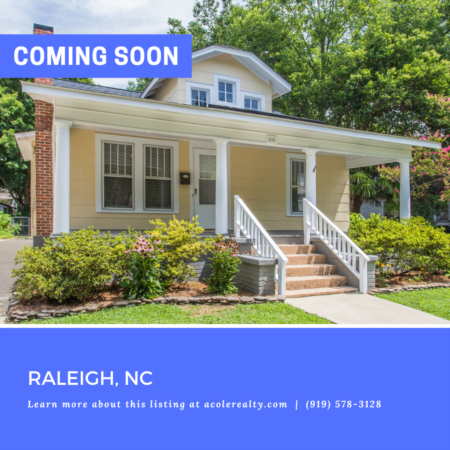 *COMING SOON* Immaculate 2 Bedroom Bungalow in the historic district of Mordecai!