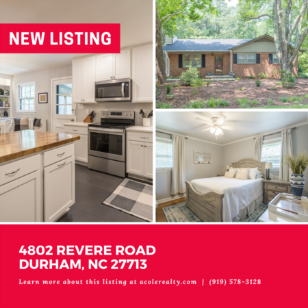 *NEW LISTING* Charming Ranch floor plan in a spectacular Durham location!