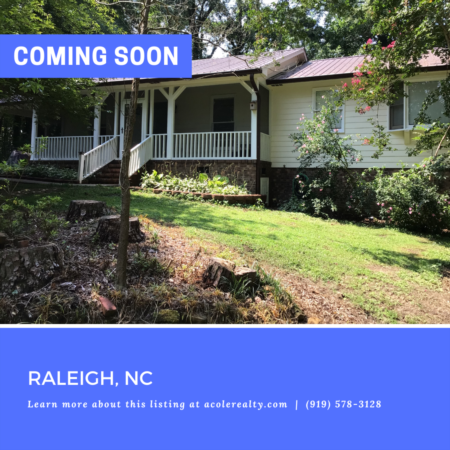 *COMING SOON* Secluded ranch home in Raleigh!