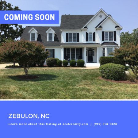 *COMING SOON* Amazing cul-de-sac opportunity on 1.12 acres in a convenient Zebulon location
