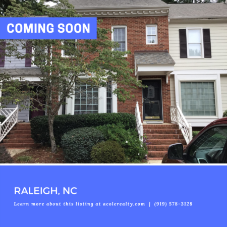 *COMING SOON* Don't miss out on this amazing townhome opportunity in a fabulous location in the heart of Raleigh close to schools, restaurants, shopping, & 540!