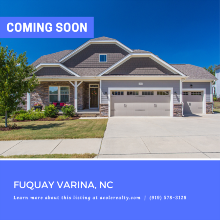 *COMING SOON* Beautiful 'like new' home on a fantastic lot in Fuquay Varina!