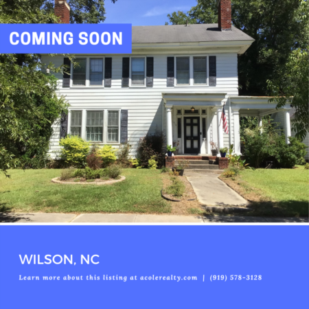 *COMING SOON* Charming home located in downtown Wilson - a historic home lover's dream.