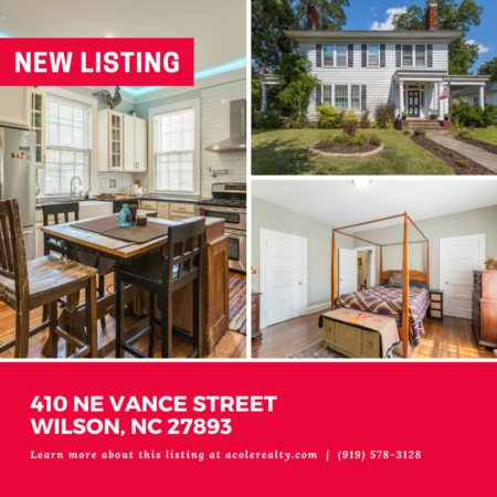 *NEW LISTING* Built in 1925, this charming home located in downtown Wilson is a historic home lover's dream.