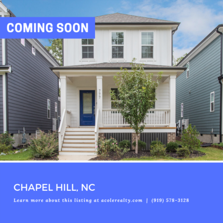 *COMING SOON* Beautiful 'like new' home in the highly sought-after community of Brier Chapel.