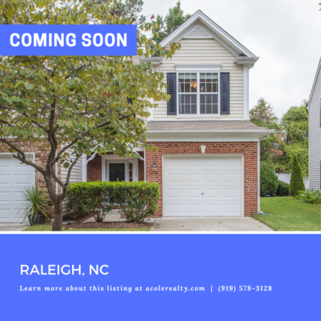 *COMING SOON* Spectacular End Unit Townhome minutes away from 540, shopping, and restaurants!
