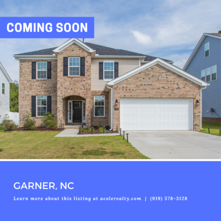 *COMING SOON* Light & Bright 'like new' home in an convenient Garner location minutes away from schools, restaurants, and shopping.