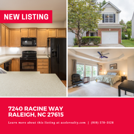 *NEW LISTING* Spectacular End Unit Townhome minutes away from 540, shopping, and restaurants!