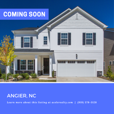 *COMING SOON* Immaculate 'like new' home in a great Angier location.