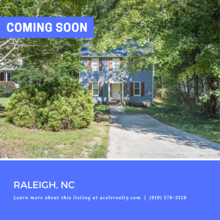 *COMING SOON* Prime Location in the heart of Raleigh with easy access to 440, 40, NCSU, downtown Raleigh, Lake Johnson, and Crossroads.