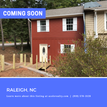 *COMING SOON* A Rare Find! End Unit Townhome in the heart of Raleigh.