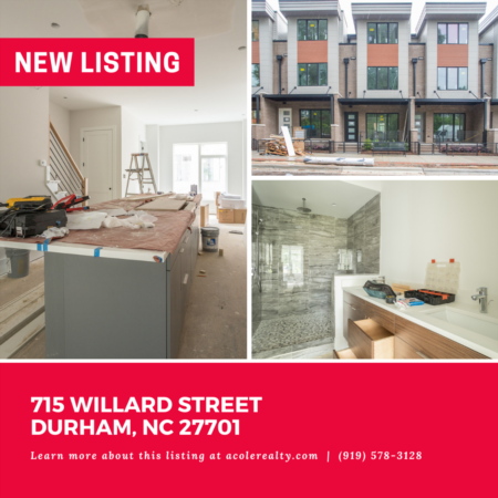 *NEW LISTING* Completion October 2021! This sleek and modern 3 bedroom Townhome features 10 Ft. ceilings, hardwood floors, expansive windows, tons of natural light, and is steps away from The American Tobacco Campus & Downtown Durham.
