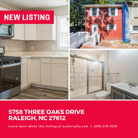 *NEW LISTING* A Rare Find! End Unit Townhome in the heart of Raleigh.