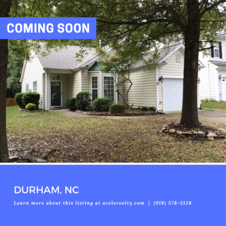 *COMING SOON* Highly sought-after Ranch floor plan in a prime Durham location close to I-40, Duke, UNC, RTP, and Southpoint Mall.
