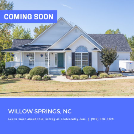*COMING SOON* This charming country home nestled on 3 acres features floor to ceiling windows, tons of natural light, and an amazing wrap around porch which overlooks a landscaped fishing pond.