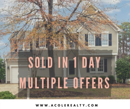 SOLD in 1 Day with Multiple Offers - Cary, NC