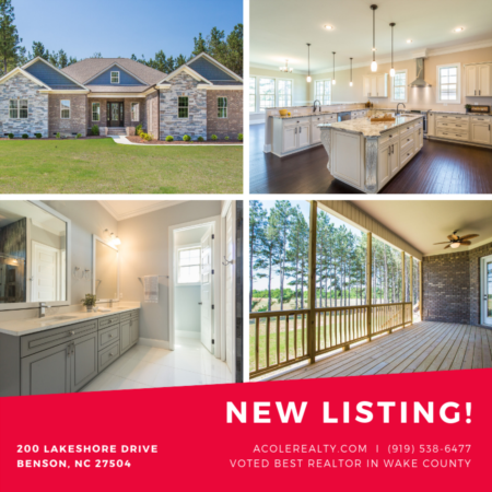 *NEW LISTING* Lake Shore Benson, NC