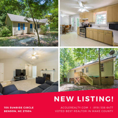 *NEW LISTING* Sunrise Circle Benson, NC!