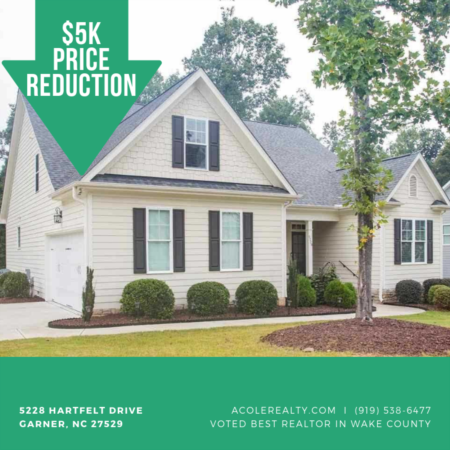 BACK ON THE MARKET & PRICE REDUCED- Garner, NC!