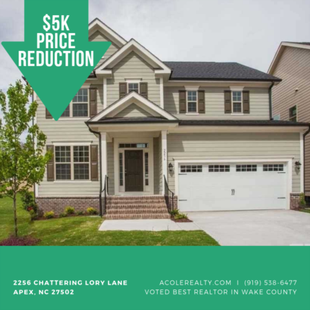 PRICE REDUCTION in Apex, NC!