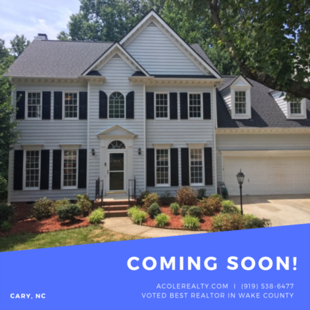 COMING SOON to CARY, NC!