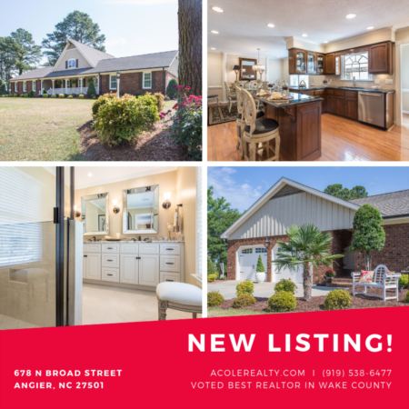NEW LISTING in Angier, NC!