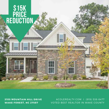 Price Reduction on home in Wake Forest NC!!