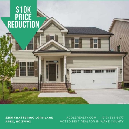 $10k PRICE REDUCTION to Apex Home