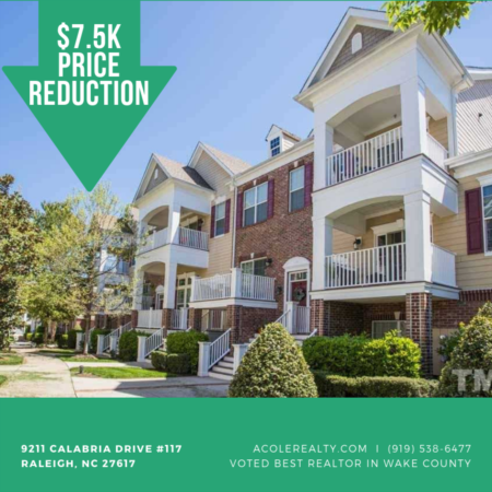 $7.5k PRICE REDUCTION in Raleigh, NC!!