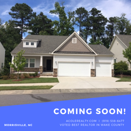 COMING SOON -> Morrisville, NC!