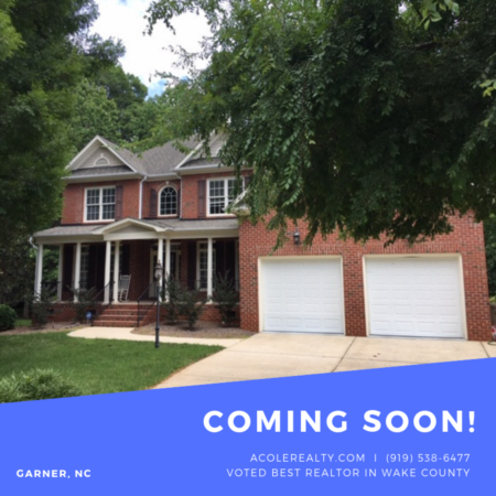 COMING SOON to GARNER NC 27529!